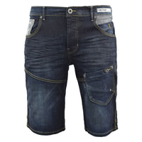 Mens Denim Short Summer  Firetrap  Jeans Knee Length Pants - Kandor Clothing Company Ltd UK