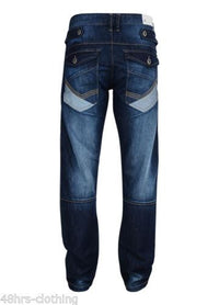 Mens cargo jeans Rawcraft Darhurst - Kandor Clothing Company Ltd UK