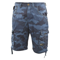 Mens Crosshatch Chinos Camo Cargo Shorts Combat 3/4 Knee Length Jimster