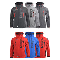 Mens Jacket Geographical Norway Softshell Techno Outdoor Sport Coat(,) - Kandor Clothing Company Ltd UK