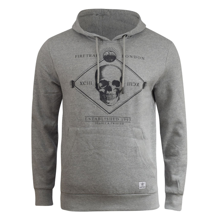 Mens hoodie firetrap manotick graphic Top - Kandor Clothing Company Ltd UK