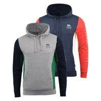 Mens Hoodie Crosshatch Sweatshirt  Hooded Jumper Top Pullover HEBRON - Kandor Clothing Company Ltd UK