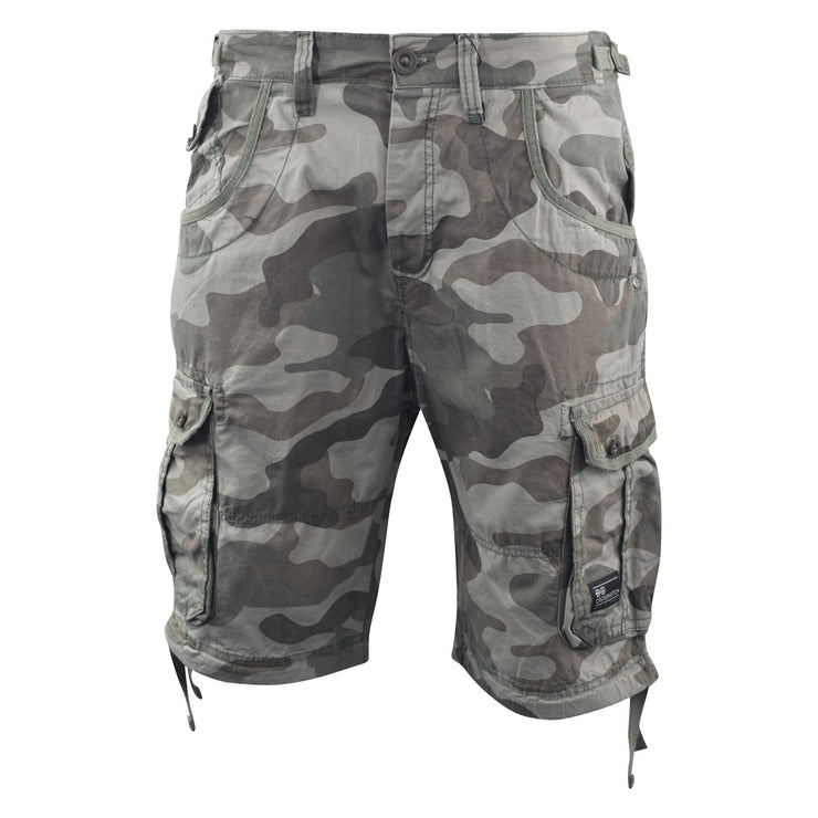 Mens Crosshatch Chinos Camo Cargo Shorts Combat 3/4 Knee Length Jimster - Kandor Clothing Company Ltd UK