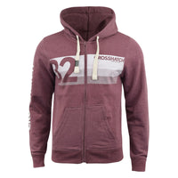 Mens Hoodie Crosshatch Sweatshirt Full Zip  Hooded Jumper Top Pullover KEMPWORTH - Kandor Clothing Company Ltd UK