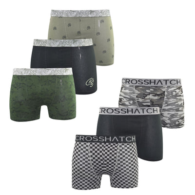 Crosshatch Mens Boxers Shorts (6 Pack) Multipacked  Underwear Gift  Set Pendglea