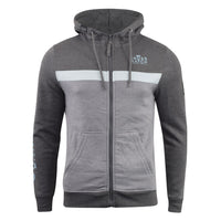 Mens Hoodie Crosshatch Sweatshirt Full Zip  Hooded Jumper Top Pullover MORIT - Kandor Clothing Company Ltd UK