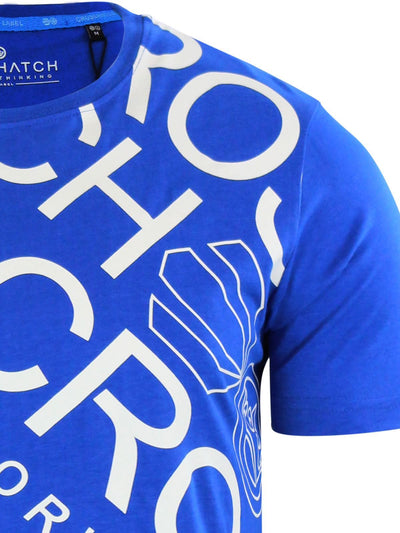 Mens Crosshatch T-shirt Crew Neck Top Tee DiagWol - Kandor Clothing Company Ltd UK