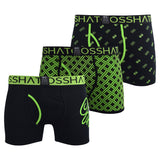 Mens multipack Boxers Crosshatch Neon - Kandor Clothing Company Ltd UK