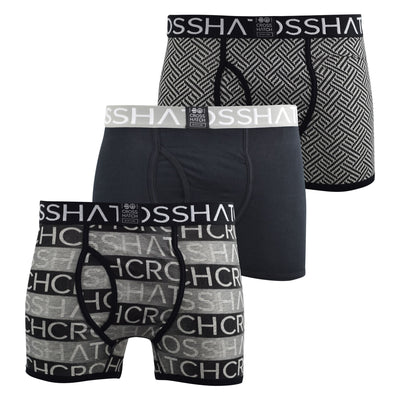 Mens Boxers Crosshatch Shorts Grazer 3PK Trunks Underwear Gift Set 3 Pack - Kandor Clothing Company Ltd UK