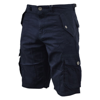 Mens Cargo Short Crosshatch Thorley Casual Chinos Short - Kandor Clothing Company Ltd UK