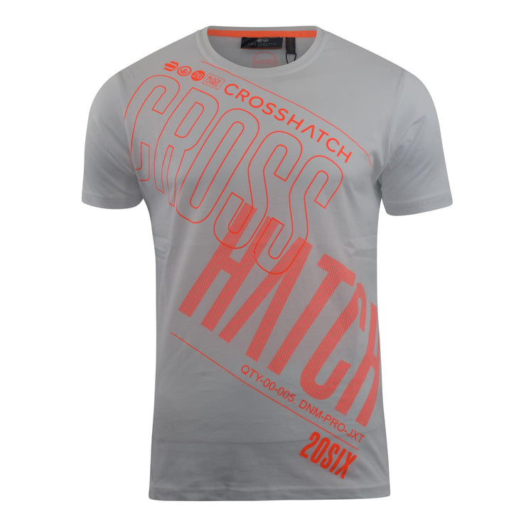 Mens Crosshatch T-Shirt Graphic Crew Neck Tee Top Kaeffmore - Kandor Clothing Company Ltd UK