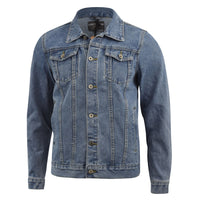 Mens Denim ripped Jacket Loyalty and Faith - Kandor Clothing Company Ltd UK