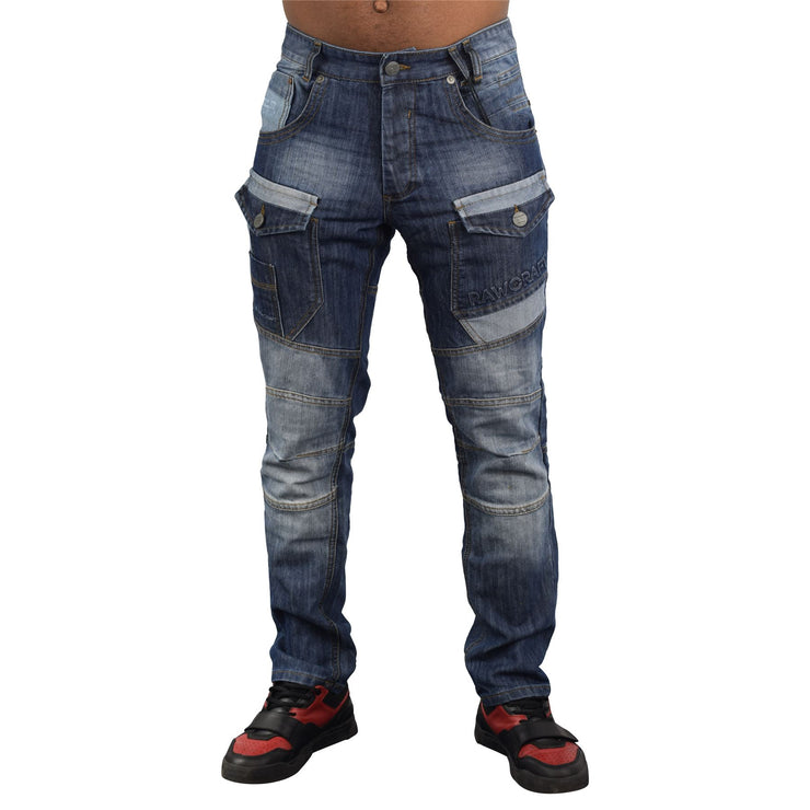 Mens Jeans Rawcraft Cargo Combat Denim Pants Chainz quality Jeans - Kandor Clothing Company Ltd UK