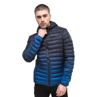 Mens Jacket Crosshatch  Contrast Coat Bubble Quilted Puffer Padded Hooded - Kandor Clothing Company Ltd UK