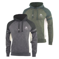 Mens Hoodie Crosshatch Sweatshirt  Hooded Jumper Top Pullover Kirknewton - Kandor Clothing Company Ltd UK