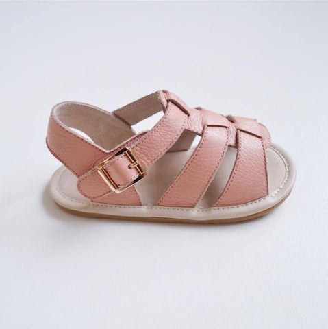 Amalfi leather sandals dusty pink prewalker baby toddler