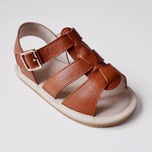 Tikitot Amalfi vintage brown toddler leather sandals