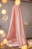 Pink and gold glitter dot canopy kidsroom decor