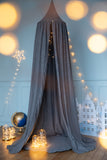 Grey and gold glitter dot canopy kidsroom decor