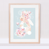 Bunny's Butterflies limited edition art print