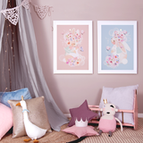 Nursery decorated with Bunny's Butterflies and Roses for Bunny prints