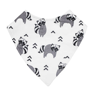 Mister Fly Raccoon Dribble bib in cotton