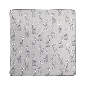 Mister Fly Kids 100% cotton jersey blanket with giraffe print