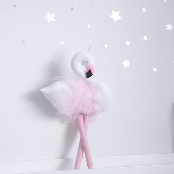 melodie flamingo toy nursery decoration by vanessa byrne