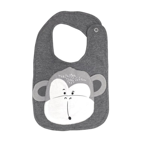Mister Fly Kids Monkey animal face cotton bib