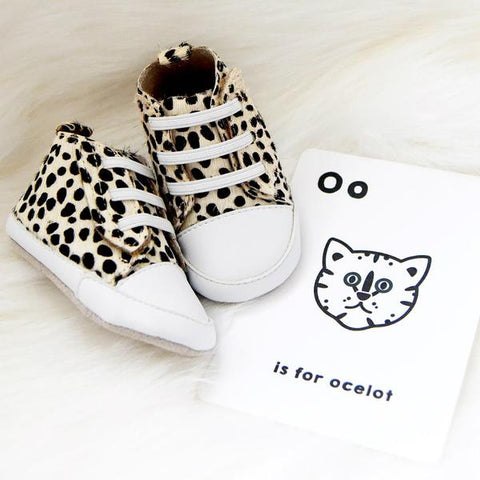 Tikitot ocelot high top pre-walker baby shoes