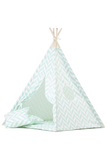 Herringbone mint teepee tent for kids