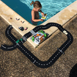 Waytoplay flexible road track set at the swimming pool