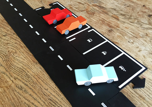 Waytoplay flexible road track set parking extension