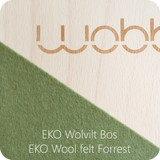 Wobbel Original balance board forest green felt