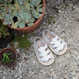Amalfi leather sandals white prewalker baby toddler