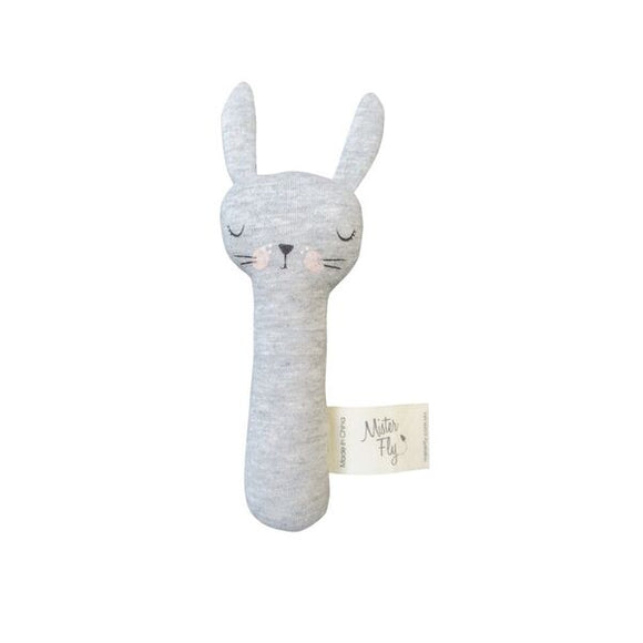 Mister Fly Kids BunBun stick rattle grey