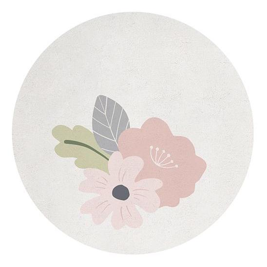 lilipinso round flowers rug kidsroom decor