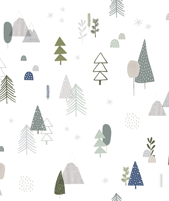 lilipinso forest kidsroom wallpaper