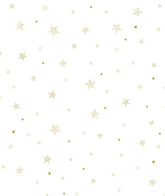 lilipinso gold stars wallpaper kidsroom decor