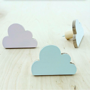 wooden cloud shaped hanging wall hooks