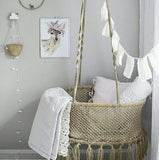 nursery room with a cloud hook on the wall