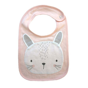 Mister Fly Kids Animal cotton bib - pink bunny