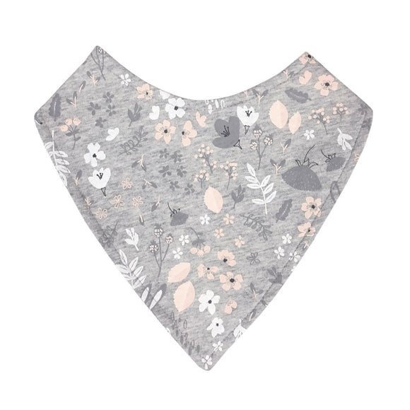 Mister Fly Kids floral bunny dribble bib