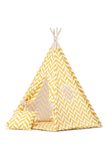 Herringbone mustard teepee tent for kids