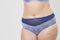 Tonal Lace High Waist Knicker - Navy & Lilac