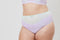 Tonal Lace High Waist Knicker - Mint & Lilac