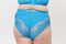 Lace and Logo High Waist Brief - Teal