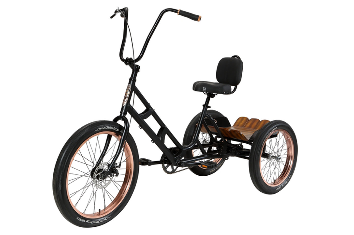 3G ASBURY DLX THREE WHEEL BIKE, BLACK with COPPER WHEELS