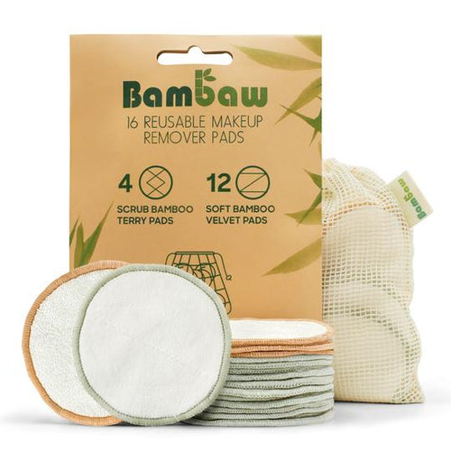 Zero-waste makeup removal bamboo cotton washable pads make up remover reusable pads soft bamboo terry pads