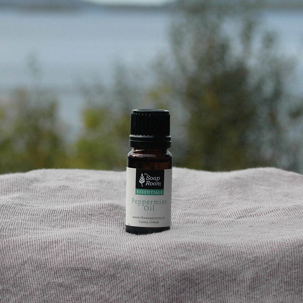 peppermint essential oil room spray room scented oil burner citrus fresh scent smell cold sinus menstrual cramps organic made in galway ireland